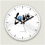壁掛け時計/デザインクロック 【ラブアース】 直径30cm アクリル素材 『MYCLO』 〔インテリア雑貨 贈り物 什器〕