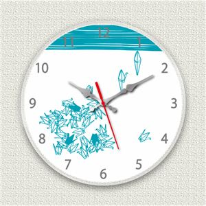壁掛け時計/デザインクロック 【折鶴】 直径30cm アクリル素材 『MYCLO』 〔インテリア雑貨 贈り物 什器〕 - 拡大画像