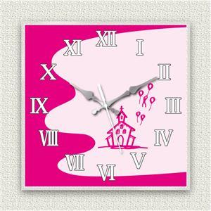 壁掛け時計/デザインクロック 【チャペル】 30cm角 アクリル素材 『MYCLO』 〔インテリア雑貨 贈り物 什器〕 - 拡大画像