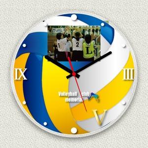 フォトフレーム時計/デザインクロック 【バレー】 幅30cm アクリル製 L版 『MYCLO』 〔送別品 記念品 贈り物〕 - 拡大画像