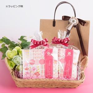 洋風豆菓子と紅茶のプチギフト キャトルクローバー イチゴチョコ味 12セット〔(豆菓子40g・紅茶2g)×12個〕 - 拡大画像