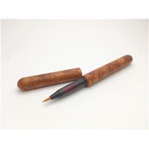 日本製 銘木材 筆ペン 花梨こぶ杢/かりんこぶもく - 拡大画像