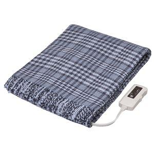 【電磁波カット】 電気ひざ掛け/電気毛布 【約幅160×奥行93cm】 グレー ワイドサイズ 綿100%