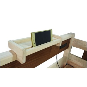 2段ベッド用棚/宮棚 ナチュラル 【幅29cm×奥行10cm】 木製 国産ヒノキ材 日本製 『COCO』