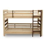 おすすめ すのこ床板 ヒノキ材 国産2段ベッド シングル使用可(フレームのみ)『KOTOKA』日本製 ベッドフレーム