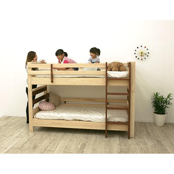 すのこ床板 ヒノキ材 国産2段ベッド シングル使用可(フレームのみ)『KOTOKA』日本製 ベッドフレーム画像02