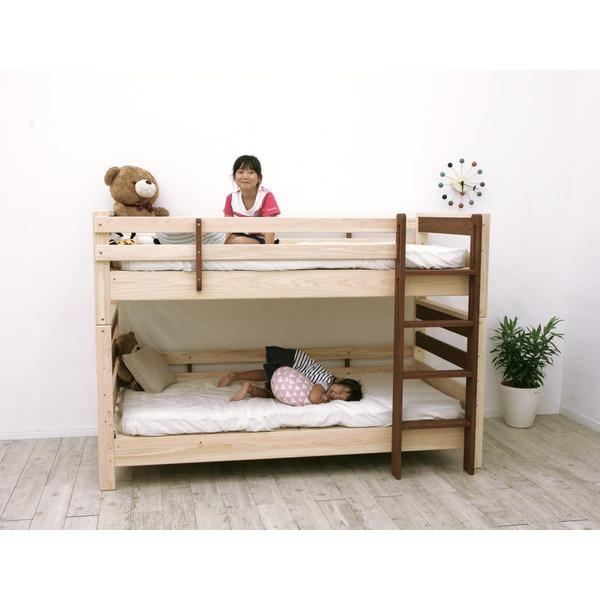 すのこ床板 ヒノキ材 国産2段ベッド シングル使用可(フレームのみ)『KOTOKA』日本製 ベッドフレーム画像03