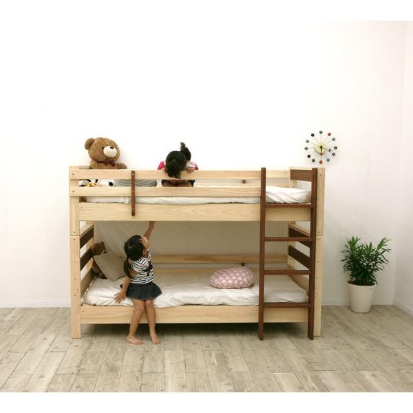 すのこ床板 ヒノキ材 国産2段ベッド シングル使用可(フレームのみ)『KOTOKA』日本製 ベッドフレーム画像04