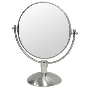 デスクミラー/卓上鏡 【幅33cm×奥行17cm×高さ37.5cm】 片面3倍拡大鏡