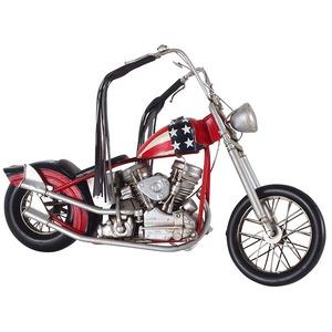 ブリキのおもちゃ 置き物 【バイク01】 材質:鉄 〔インテリアグッズ ディスプレイ雑貨〕 - 拡大画像