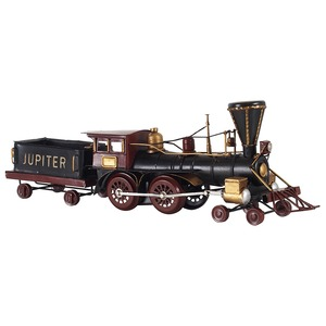 ブリキのおもちゃ 置き物 【機関車01】 材質:鉄 〔インテリアグッズ ディスプレイ雑貨〕 - 拡大画像