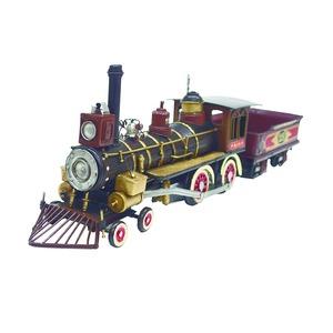 ブリキのおもちゃ 置き物 【機関車02】 材質:鉄 〔インテリアグッズ ディスプレイ雑貨〕 - 拡大画像