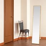 シンプル スタンドミラー/全身姿見鏡 【ナチュラル】 幅32cm 飛散防止加工