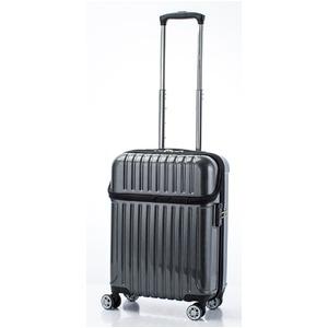 トップオープン スーツケース/キャリーバッグ 【ブラックカーボン】機内持ち込みサイズ 33L 『アクタス トップス』 - 拡大画像