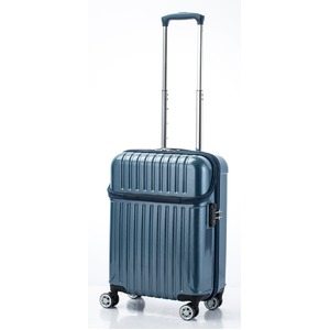 トップオープン スーツケース/キャリーバッグ 【ブルーカーボン】機内持ち込みサイズ 33L 『アクタス トップス』 - 拡大画像