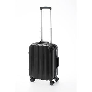 ツートンカラー スーツケース/キャリーバッグ 【Sサイズ ブラック/ブラック】 33L 『アクタス』 - 拡大画像