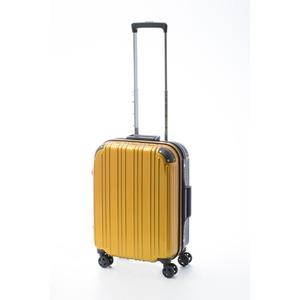 ツートンカラー スーツケース/キャリーバッグ 【Sサイズ イエロー/ブラック】 33L 『アクタス』 - 拡大画像