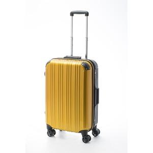 ツートンカラー スーツケース/キャリーバッグ 【Mサイズ イエロー/ブラック】 52L 『アクタス』 - 拡大画像