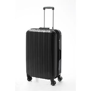 ツートンカラー スーツケース/キャリーバッグ 【Lサイズ ブラック/ブラック】 72L 『アクタス』 - 拡大画像