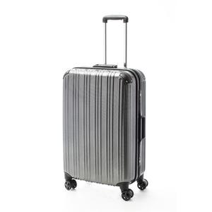 ツートンカラー スーツケース/キャリーバッグ 【Lサイズ カーボンブラック/ブラック】 72L 『アクタス』 - 拡大画像