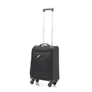 超軽量 ソフトキャリー/スーツケース 【機内持ち込みサイズ ブラック】 23L ファスナーポケット付 『アンドレリュックス』 - 拡大画像