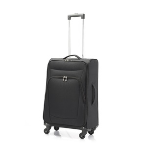 超軽量 ソフトキャリー/スーツケース 【Mサイズ ブラック】 41L ファスナーポケット付 『アンドレリュックス』 - 拡大画像
