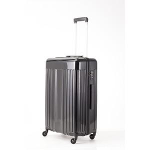 スーツケース/キャリーバッグ 【Mサイズ ブラック】 60L 『マンハッタンエクスプレス ワーゲン』 - 拡大画像