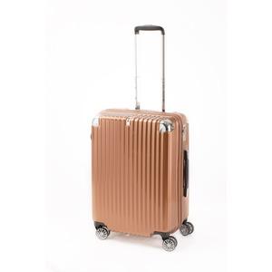 スーツケース/キャリーバッグ 【ジッパー式 オレンジヘアライン】 Mサイズ 60L 『トラベリスト ストロークII』 - 拡大画像