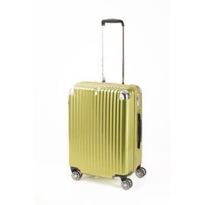 スーツケース/キャリーバッグ 【ジッパー式 ライムヘアライン】 Mサイズ 60L 『トラベリスト ストロークII』 - 拡大画像
