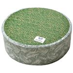 い草 高座クッション/座布団 【直径約40×高さ12cm グリーン】 表面:イ草100% ウレタンフォーム 『ボタリラグラス』