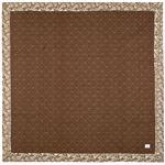 ラグマット/絨毯 【約185×185cm ブラウン】 正方形 洗える 防滑加工 綿混 『麻の葉 キルトラグ ボタリラ』 〔リビング〕