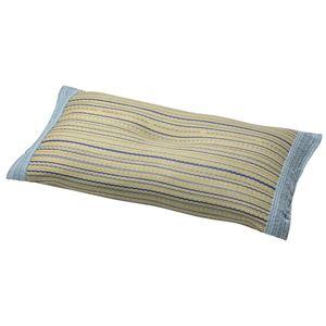 い草 平枕/寝具 【約幅28×奥行50cm】 表面:イ草100% 『涼仙 りょうせん』 〔リビング ベッドルーム〕 - 拡大画像