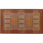 国産い草玄関マット(裏貼り) オリエンタル 約70×120cm ブラウン