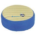 【ハローキティ】 い草 スツール/クッション 【セーラーハット】 ブルー 直径 約40×高さ12cm 〔和室 洋室〕