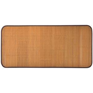 天然竹シーツ/竹ラグ 【約80cm×170cm】 長方形 傷防止仕様 『ストーン』 〔リビング ダイニング〕 - 拡大画像