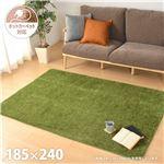 芝生の様なタッチのふっくらラグ 約185×240cm