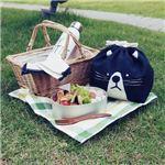 【3個セット】 動物柄 お弁当袋/ランチバッグ 【ネコ】 幅25.5cm 内側:アルミシート仕様 『オカオキンチャク』