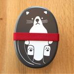 【2個セット】 アニマル柄 ランチボックス/お弁当箱 【ネコ】 入れ子式 『puloose』