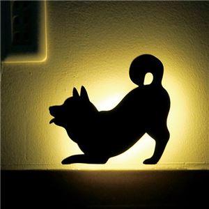 【2個セット】 SHIBA WALL LIGTH/LED照明 【3 ふりふり】 音感センサー内蔵 自動消灯 - 拡大画像