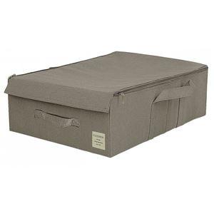 【2個セット】 マルチ収納ボックス/収納箱 【ベッド下収納 ダークグレー】 幅36cm フタ付き 『ストレリアナチュレ』 - 拡大画像