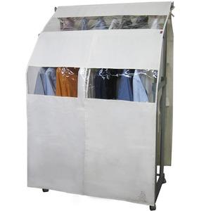 【3個セット】 ハンガーラックカバー/衣類カバー 単品 【2段ダブルサイズ用】 幅122cm×奥行47cm×高さ180cm