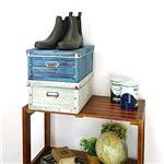 【6個セット】 マルチ収納ボックス/収納箱 【L ホワイト】 幅26.5cm×奥行35cm×高さ15cm 『アンティークスタイルボックス』
