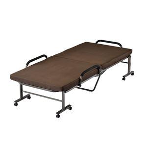 高反発折畳みベッド ブラウン UB-184