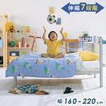 のびのびシングルベッド 【本体:幅160〜220×奥行102.6×高さ91.2cm】 シルバー