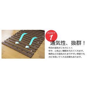 折りたたみ式 樹脂すのこベッド 単体 【ブラウン】 シングルサイズ 抗菌加工 【完成品】