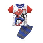 プリント ジャマ ジュニア 上下セット半袖&短パン(スパイダーマン ) 100cm 春夏 綿100%