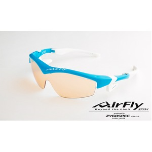 AirFly(エアフライ)ノーズパッドレススポーツサングラス ユニセックス スカイブルー AF-201 C5 - 拡大画像