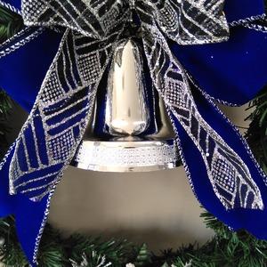 クリスマスリース 35CM シルバーブルー