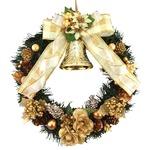 クリスマスリース 25CM ゴールド