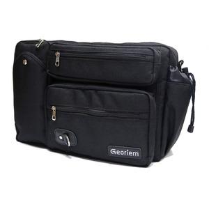 [Georiem] ジェオリエム 公式 ビジネスボ ディバッグ 3way 軽量 バックパック ショルダーバッグ メンズ 正規品 ブラック - 拡大画像